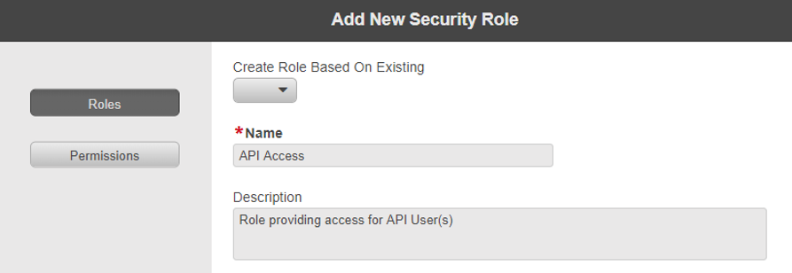 Define Security Role